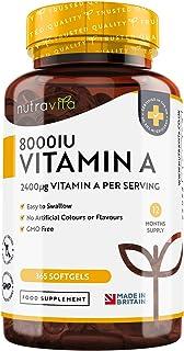 Vitamin A 8000IU – Maintenance of the Immune System,