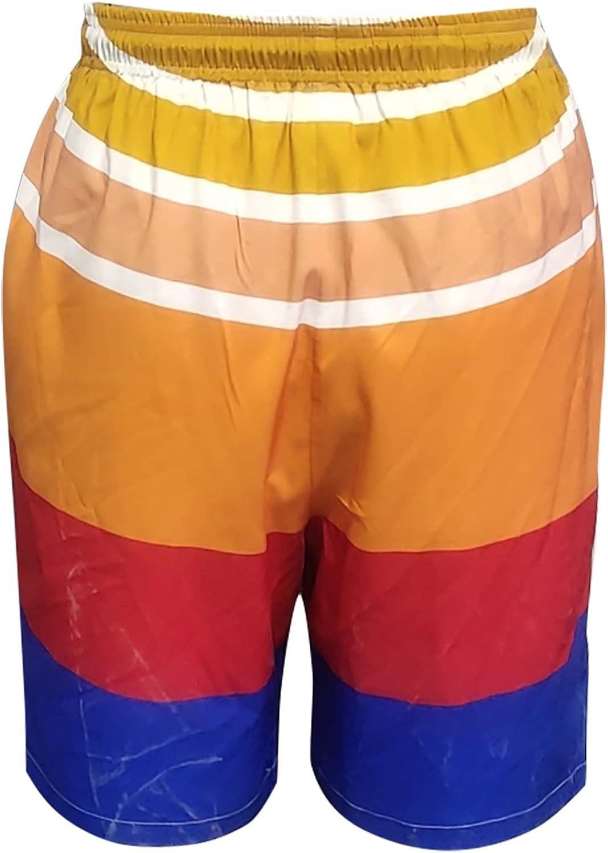 ZEFOTIM Mens Beach Shorts,Summer Holiday Drawstring Cock Printed Casual Quick Dry Trouser Surf Swimming Board Shorts