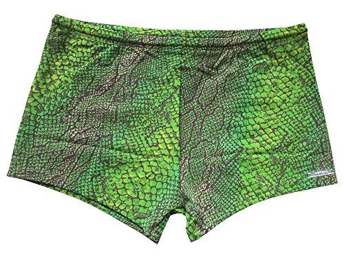 Solar Tan Thru Badehose Shorty durchbräunend grün/braun, Gr. 7, XL