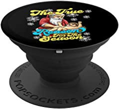 True Reason for the Season Baby Jesus Santa Manger Christmas PopSockets Grip and Stand for Phones and Tablets