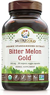 Nutrigold Organic Bitter Melon Gold, 500 Mg, 90 Organic Capsules