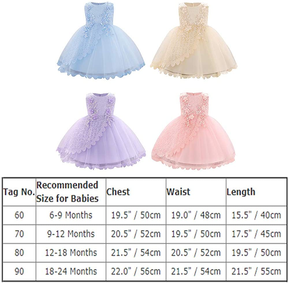 Buy Lace Flower Girls Sequins Bow Tutu Dress for Infant Baby ...
