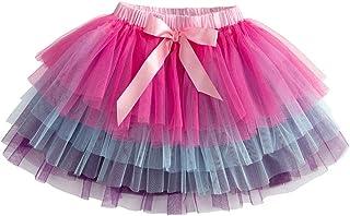 Crewcuts Girls Coral Peach Elastic Waist Ruffle Tiered Tutu Skirt Sz 3 Yrs 3t Baby & Toddler Clothing