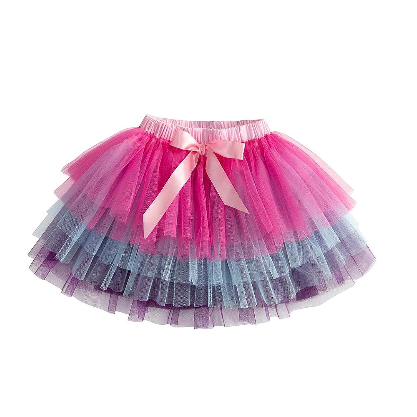 VIKITA Girls Rainbow Stripe Leggings Cotton Flower Long Spring Summer Pants for 2-8 Years ?-