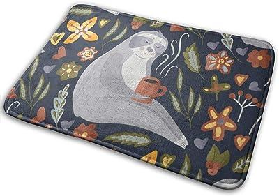 """Sloths in Flat Style Doormat Front Door Mat Non Slip Door Rug Shoes Scraper Rug Carpet - 23.6"""" x 15.8"""""""
