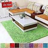 SODKK Hochflor Teppich 140x220cm Grün Teppichbodenmatte Strapazierfähig 8 Rug Grippers Rutschfester Teppichunterlage für Wohnzimmer Küche Flur Schlafzimmer oder Kinderzimmer