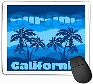Alfombrilla de ratón Surfing California Graphic Print granje Texture Surfers Stamp Surf Apparel Mousepad 25 * 30CM