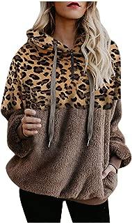 Womens Long Sleeve Zipper Sherpa Sweatshirt Pullover Fuzzy Fleece Casual Hooded Outwear Oversized Jackets Coats DBHAWK