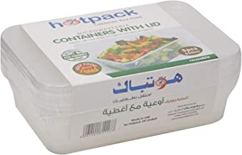 Hotpack Disposable Food Storage Containers, 5 Pieces