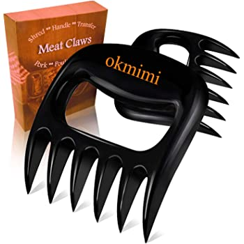 Meat Claws Meat Shredder Claws Best Pulled Pork Shredder Claws Paws - BBQ Smoker Bear Claws Meat Shredding Handles Claws - Non-slip Kitchen Claw Utensil - Grilling Chicken Shred Fork Carving Tone Kit
