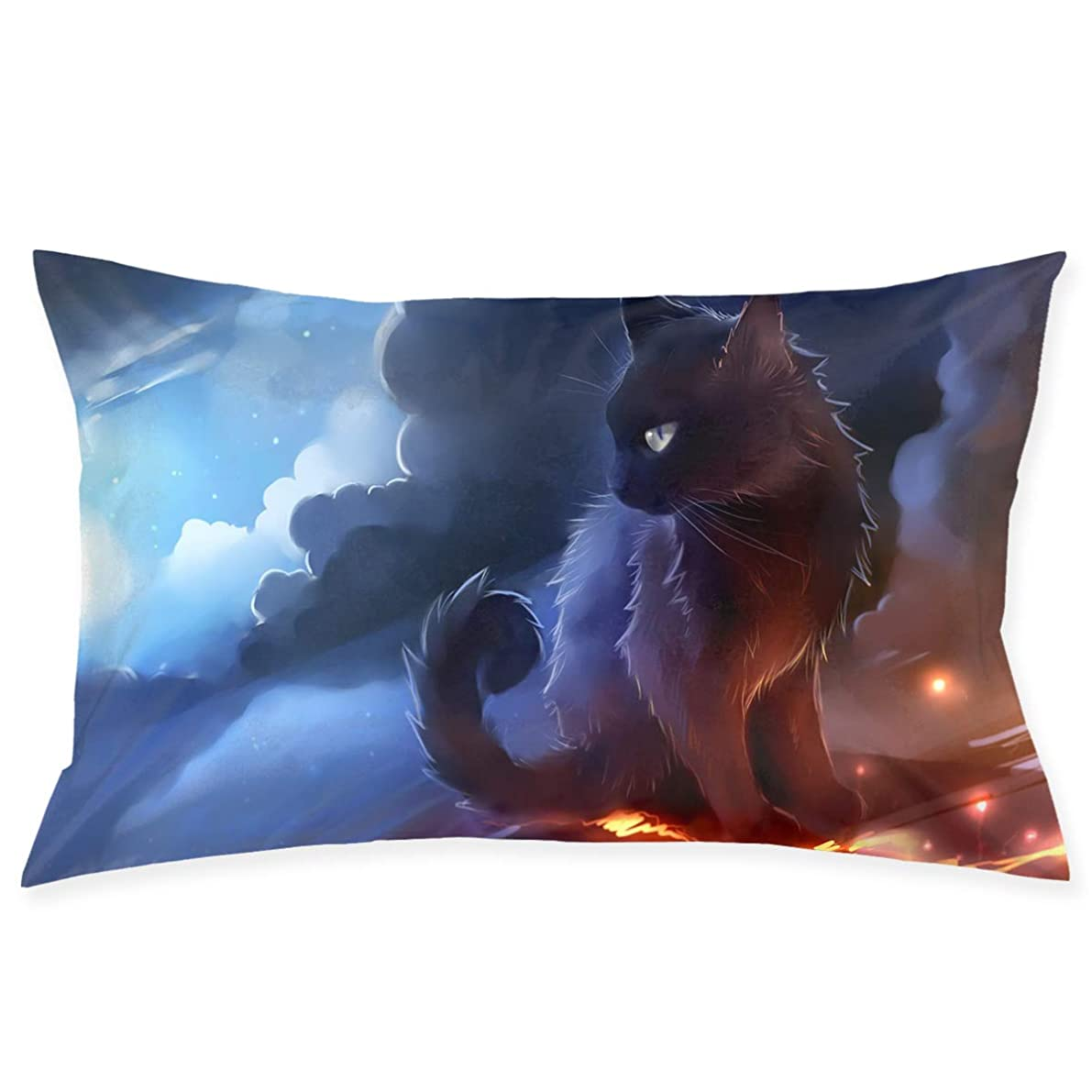 SKYISOK Cat Warrior Pillowcases Decorative Pillow Covers Soft and Cozy, Standard Size 20