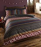 De cama - Set di biancheria da letto con copripiumino e federe, motivo etnico indiano