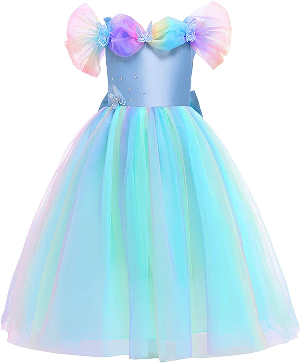YiZYiF Kids Girl's Princess Mesh Tutu Dress Pageant Ball Gown for Special Occasion Halloween Party