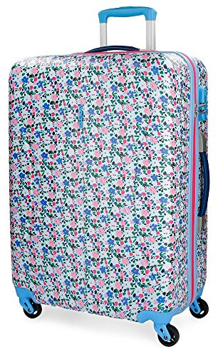Roll Road Pretty Blue Maleta, 70 cm, 72 Litros, Multicolor