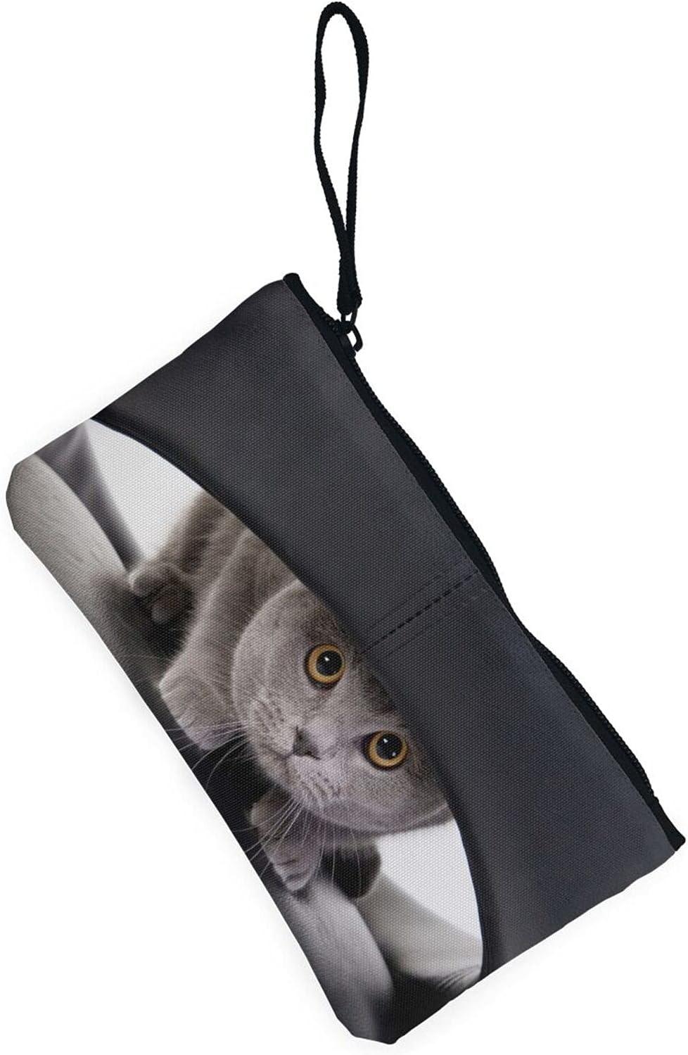 AORRUAM Cat pattern cute Canvas Coin Purse,Canvas Zipper Pencil Cases,Canvas Change Purse Pouch Mini Wallet Coin Bag