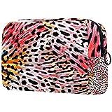 Personalisierte Make-up Pinsel Tasche Tragbare Kulturbeutel für Frauen Handtasche Kosmetische Reiseveranstalter Bunte Schmetterlingsflügel
