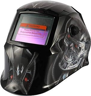 KKmoon Máscara de soldadura de luz variable automática de energía solar Casco de soldadura de punto