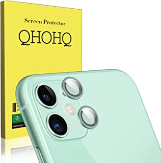 QHOHQ [2 Unidades Protector de Lente de cámara para iPhone 11 (6.1) Vidrio Templado[Dureza 9H] Cristal Templado [Sin Burbujas] HD Protector de Pantalla (Green)