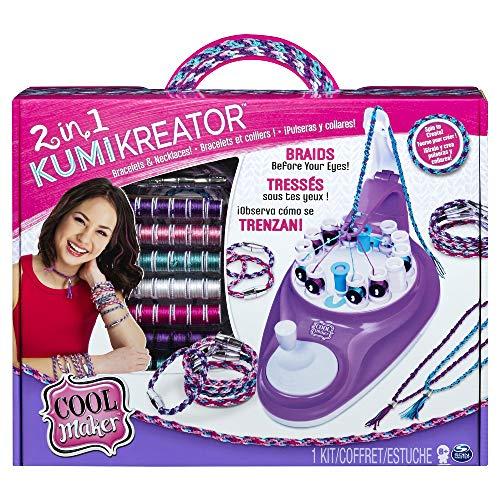 Cool Maker KumiKreator 2 in 1, macchina per creare braccialetti dell'amicizia e collane, dagi 8 anni in su