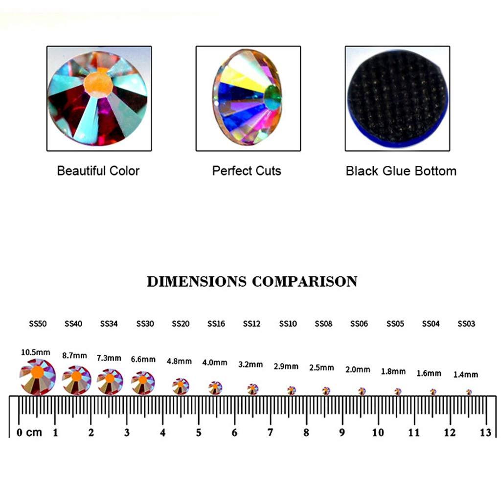 BLINGINBOX Lot de 3 000 strass en cristal AB DMC Hot Fix Rouge Hotfix Strass thermocollant pour v/êtements Orange
