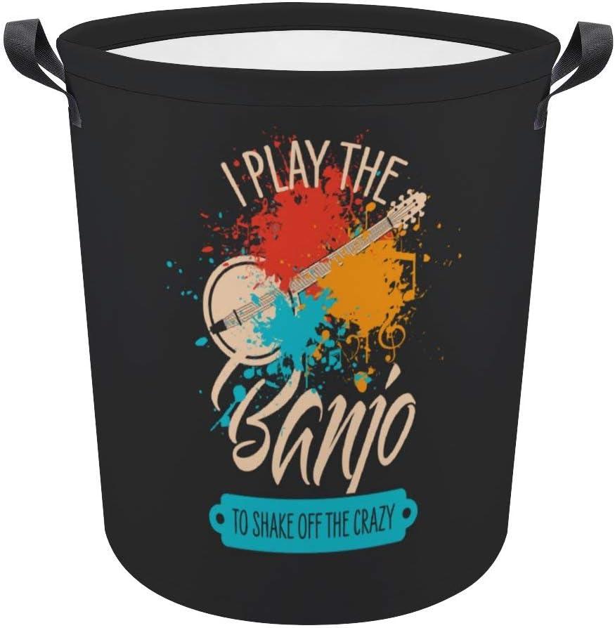 Vintage Country Max 58% OFF 1 year warranty Music Banjo Laundry Dirty Bag Basket Hamper Clot