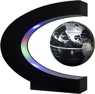 Senders Floating Globe with LED Lights C Shape Magnetic Levitation Floating Globe World..