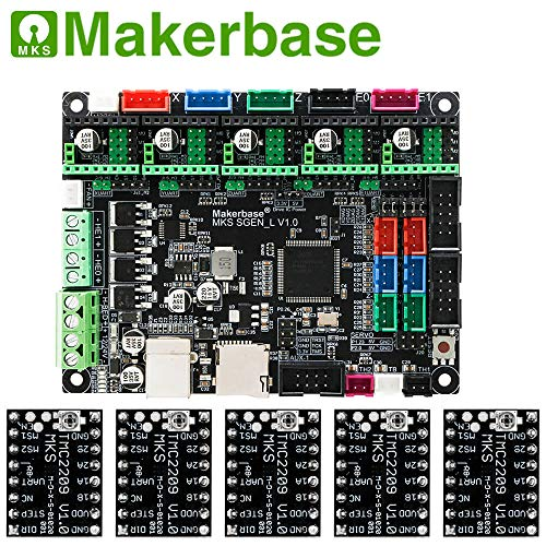 3D printer board MKS SGen_L 32-bit controller compatible with Marlin2.0 and smoothie firmware.Support multiple types of drives (with 5PCS TMC2209)