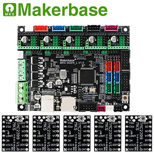 3D-Druckerplatine MKS SGen_L 32-Bit Controller kompatibel mit Marlin2.0 und Smoothie Firmware.Unterstützt mehrere Arten von Laufwerken, with 5PCS TMC2209, 1