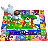 teytoy Baby Cotton Play Mat, Playmat Baby Crawling Mat for Floor Baby Mat Large Super Soft Extra Thick (0.6cm), Plush Surface Foldable Non-Slip Non-Toxic