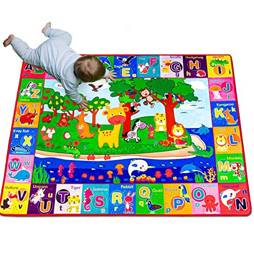 teytoy Baby Cotton Play Mat Playmat Baby Crawling Mat for Floor Baby Mat Large Super Soft Extra Thick 06cm Plush Surface Foldable NonSlip NonToxic