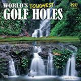 World s Toughest Golf Holes 2021 12 x 12 Inch Monthly Square Wall Calendar by Wyman Publishing, Golfing Outdoor Sport