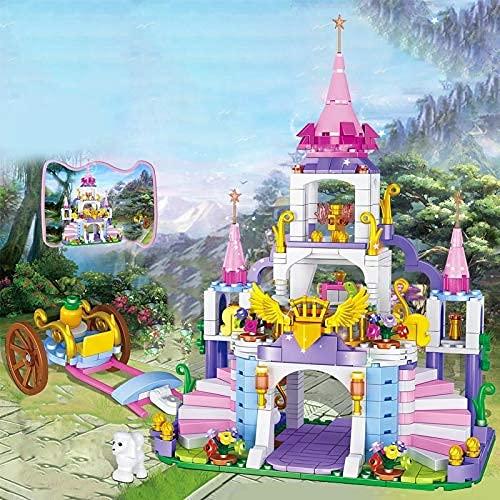 HYLL Bloques de construcción 500pcs Princess Jeanne's City Castle Building Blocks Chicas Amigos Fantasy Castle Modelo Iluminar Ladrillos educativos Juguetes para niño