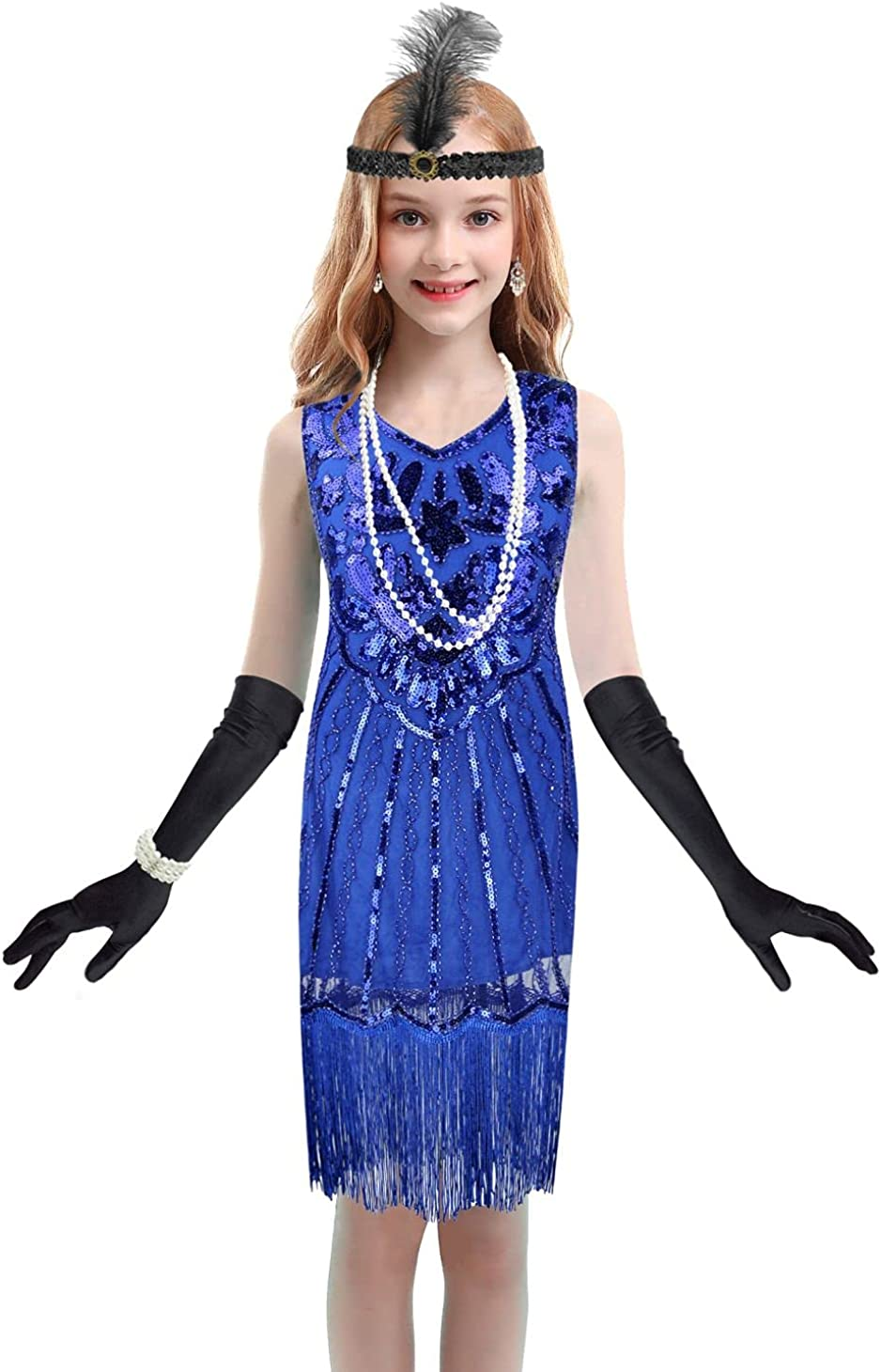 1920's Sequins ! Super beauty product restock quality top! Flapper Dress Children's Gift Day 40% OFF Cheap Sale Halloween Party