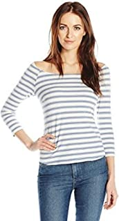 Only Hearts Women's Recycled Stripe 3/4 Sleeve Tee