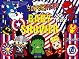 Avengers Background  Baby Shower Banner   Superhero   Birthday   Boys   Party Supplies   Kids   Banner   Photography Decorations