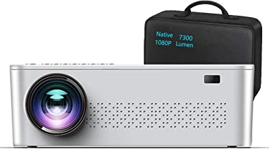 """$159 » Native 1080p Projector,7300 Lumens Projector for Outdoor Movies with 400""""Display,Support 4K Dolby & Zoom,100000 hrs Life,I..."""