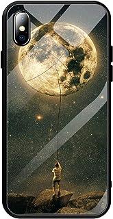 Caler Fodral kompatibelt med Huawei P Smart+ Plus fodral 9H härdat marmorglas baksida med TPU-ramskyddande ultratunna mobi...