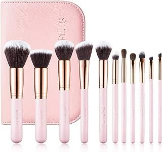 SIXPLUS 11Pcs Pink Makeup Brush Set