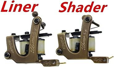 Thomas Coil Tattoo Machine Tattoo Gun Brass Frame Handmade for Tattoo Supplies Pack of 2 for Liner&Shader