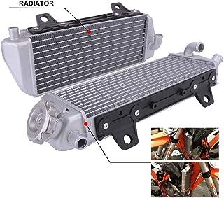 AnXin Radiador de Rendimiento de Aluminio para KTM 125 XC-W 250 300 350 450 500 SX SX-F Factory Editon EXC-F XC XC-F XC-W 2016 2017 2018 Motocicleta