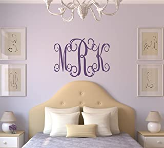 Personalized Monogram Wall Decal - Monogram Wall Sticker