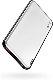 TNTOR モバイルバッテリー大容量 18W PD対応 急速充電 10000mAh 持ち運び充電器 小型 軽量【PSE認証済/METI認証済/Power Delivery対応】 iPhone&Androidなど対応 (銀)