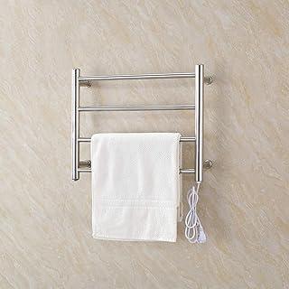 Toallero HLF eléctrico de Acero inoxidable-45X54cm baño termostato radiador Espejo Pulido Superficie Cocina Estante