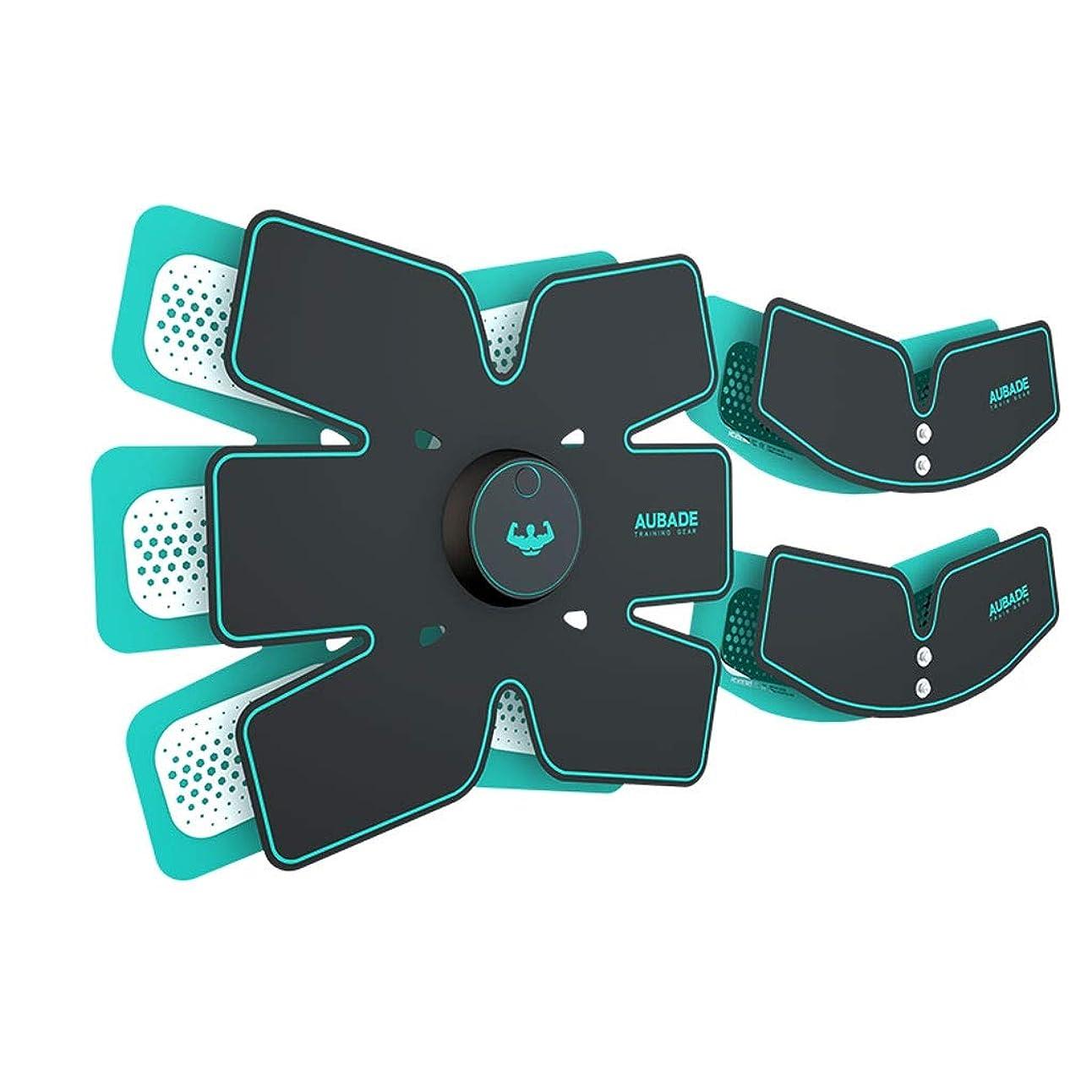 カヌー保護安らぎABSトレーナー、充電筋肉刺激装置、ワイヤレスマッスルトナー腹部調色ベルト脂肪バーナー機器でリモートコントロール付き男性女性