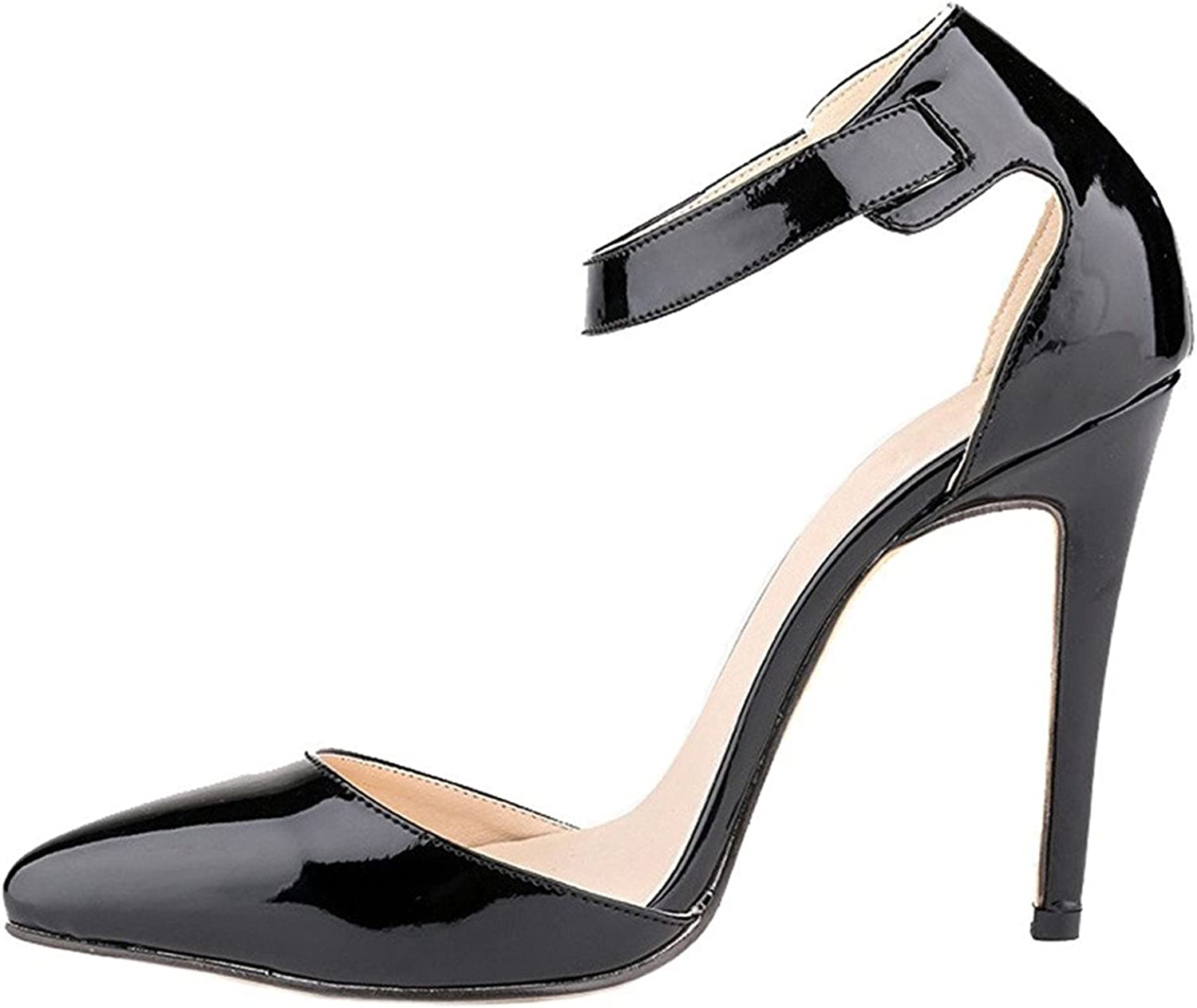 Also Easy Stylish Women's Sexy Buckle Pointed-Toe Stiletto Hihg Heel Pump shoes Unique Style