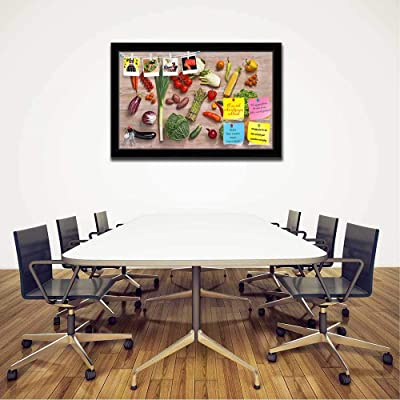 ArtzFolio Photo of Fruits & Vegetables D5 Printed Bulletin Board Notice Pin Board Soft Board | Black Frame 24.8 X 16Inch