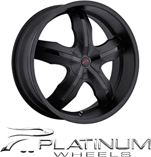 Platinum Widow 17 Black Wheel / Rim 5x100 & 5x4.5 with a 42mm Offset and a 73 Hub Bore. Partnumber 212-7718B