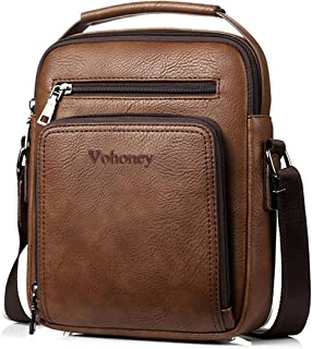 Vohoney Herren-Schultertaschen Umhängetasche Herrentasche Klein Crossbody Bag Handtasche Tasche UmhängenMessenger Bag Hand...