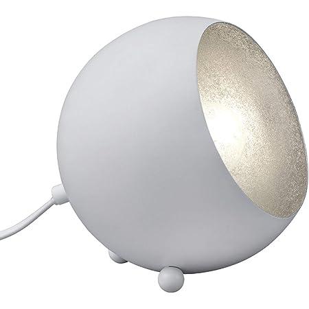 Reality, Lampe de table, Billy 1xE14, max.28,0 W Corps: metal, blanc mat L:15,0cm, L:14,0cm, H:16,0cm IP20,Interrupteur de cordon