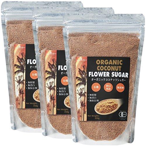 有機JASオーガニック ココナッツシュガー Organic coconuts suger 350g 3袋